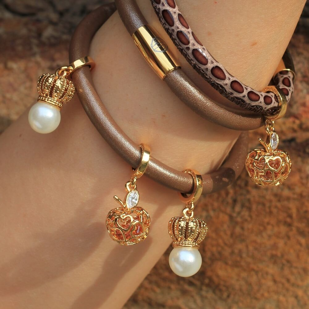 Gold Charms For Charm Bracelet: Bronze Amazon Leather Bracelet