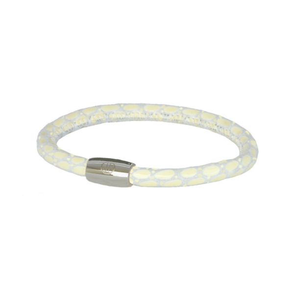 Jackie Mack Cream Lizard Leather Bracelet S