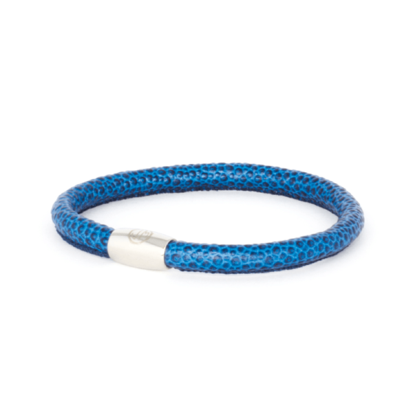 Jackie Mack Deep Ocean Lizard Leather Bracelet s
