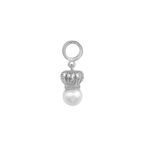 Silver Queen Charm with Freshwater Pearl
