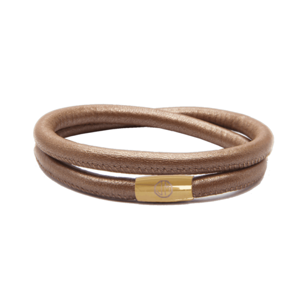 Bronze Amazon Leather Bracelet