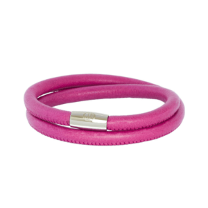 Pink Happiness Leather Bracelet