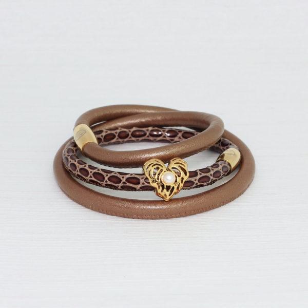 Bronze Choc Heart Bracelet Stack