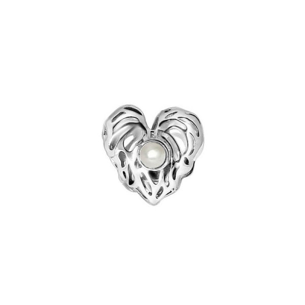 Silver Love Me Heart Ring Charm