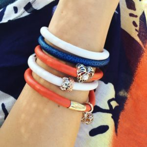 Summer Bracelets and Silver Charms