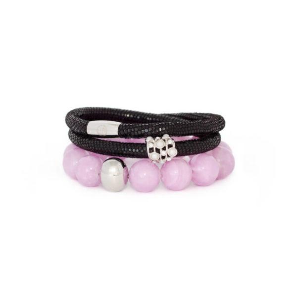 Black Lavender Opulence Bracelet Stack