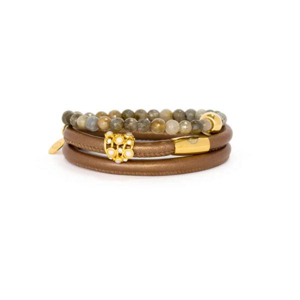 Bronze Agate Opulence Bracelet Stack
