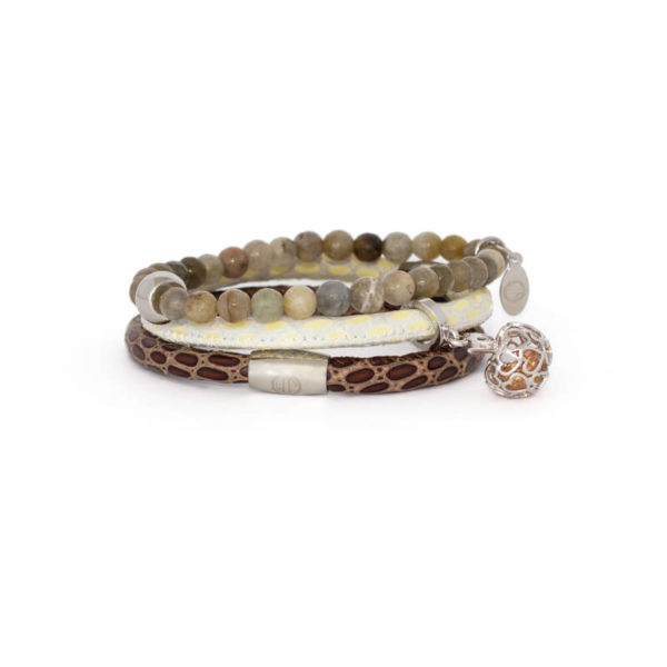 Choc Luxe Agate Love Bracelet Stack