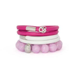 Lavender Happy Infinity Bracelet Stack