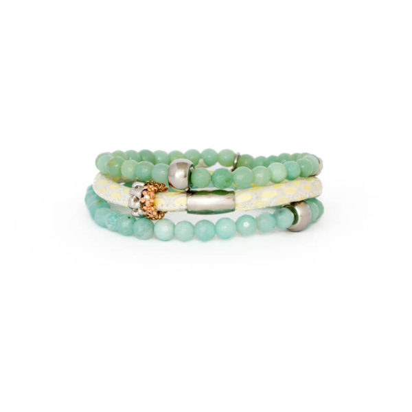 Mint Cream Spring Bracelet Stack